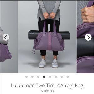 Lululemon Gym Bag Two Times a Yogi Purple Fog